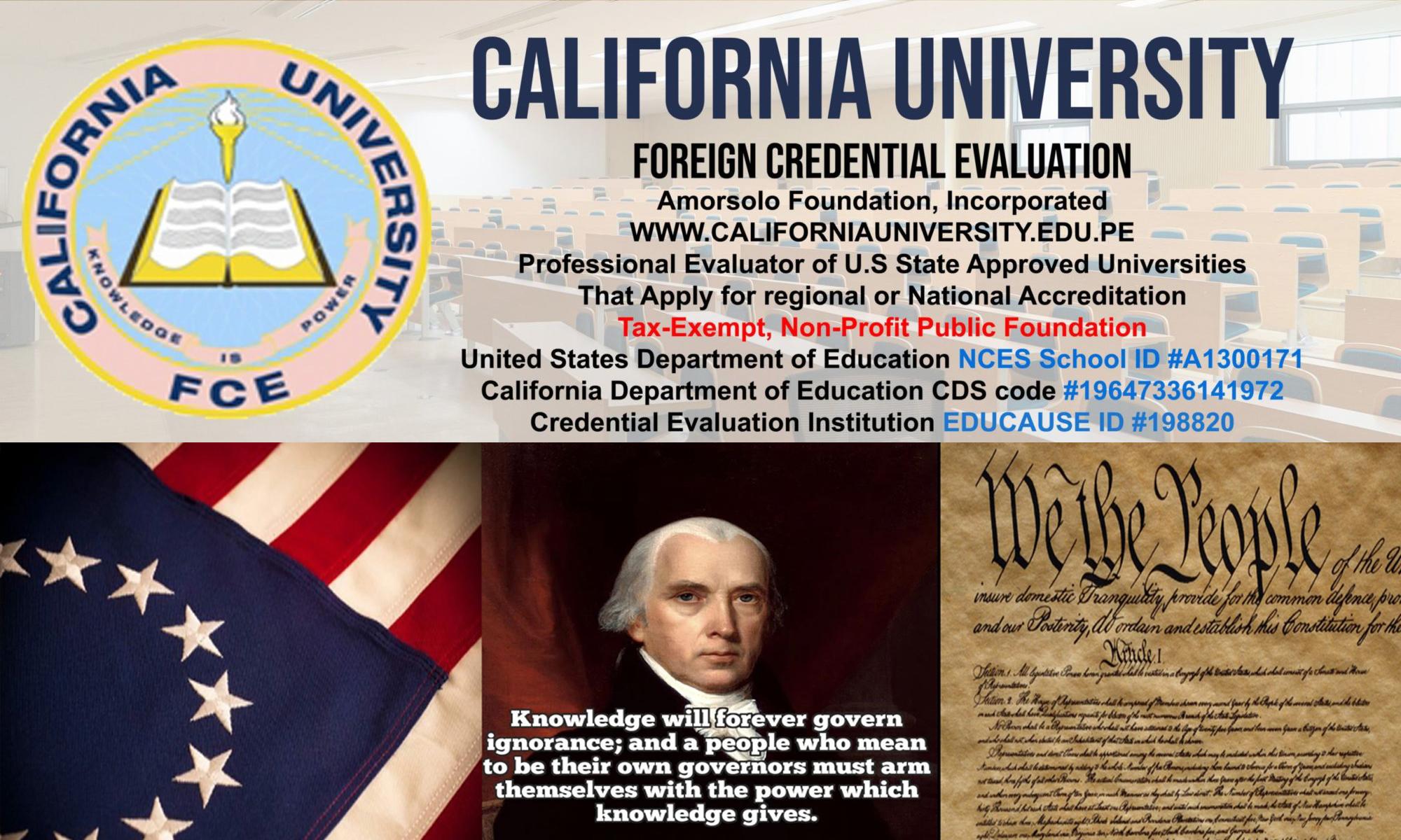 California University FCE | Credential evaluation
